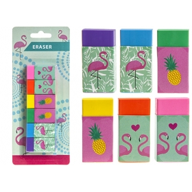 Flamingo eraser – 6 pcs