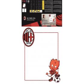 AC MIlan removable wall sticker white board logo 1 sheet