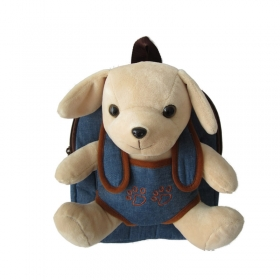 Backpack with removable mascot dog