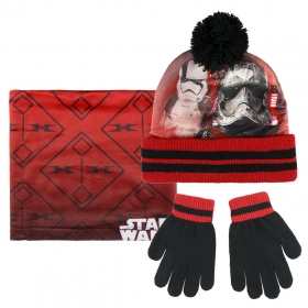 Star Wars autumn / winter hat, chimney scarf and gloves