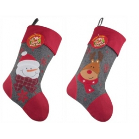 Christmas Craft - Stocking Grey/Red - model to choose