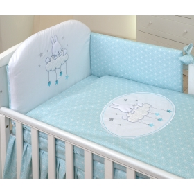 Baby bedding set 5 elements Sky Bunny
