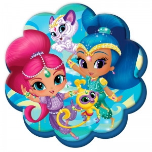 Shimmer and Shine velour cushion