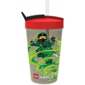 Lego Ninjago bottle with straw