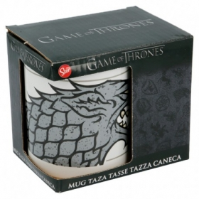 Stor Ceramic Offset Mug 11 Oz In Gift Box Game Of Thrones Stark