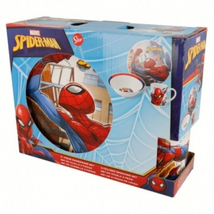 Spiderman ceramic breakfast set 3 pcs