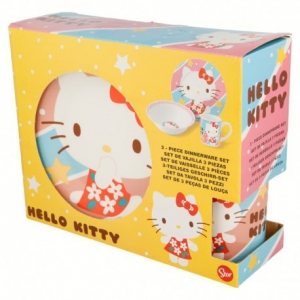 Hello Kitty ceramic breakfast set