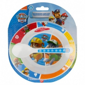 Toddler 2 Pcs Micro Set (MICRO Bowl And Micro Pp Spoon Toddler) Paw Patrol