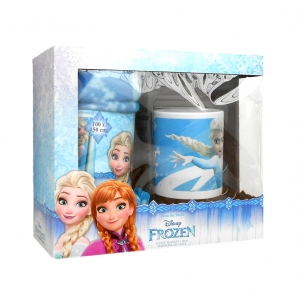 Frozen porcelain mug and fleece blanket set