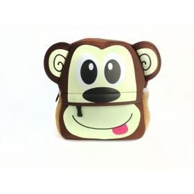 Neoprene monkey preschool backpack