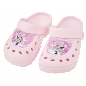 Minnie Mouse and Unicorn garden clogs