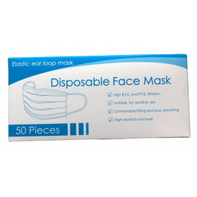 3 ply disposable face mask in display box